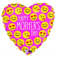 """Emoji Mother's Day 18"""" Foil Balloon"""