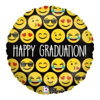 "Happy Graduation Emoji 18"" Foil Balloon"