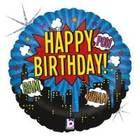 """Super Hero Birthday 18 """" Single Pack"""