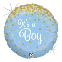 "Blue and Gold It's A Boy 18"" Foil Balloon"