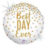 "Glittering Best Day Ever! 18"" Single Pack"