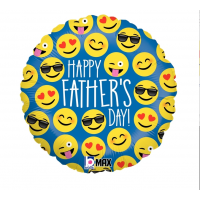 "Happy Father's Day Emoji 18"" Foil Balloon"