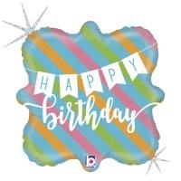 "Happy Birthday Banner 18"" Foil Balloon GRABO"