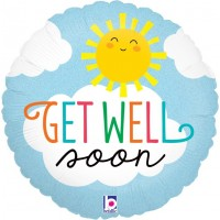 "Sky & Sunshine Get Well Soon 18"" Foil Balloon"