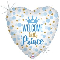 """Welcome Little Prince 18"""" Foil Balloon"""