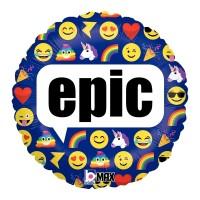 "Emoji - Purple Epic 18"" Foil Balloon"