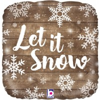 "Let it Snow - 18"" Foil Balloon"