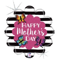 """Radiant Butterfly Happy Mother's Day 18"""" Foil Balloon"""