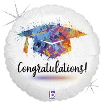 "Congratulations Painterly 18"" Foil Balloon"