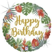 "Tropical Birthday 18"" Foil Balloon"