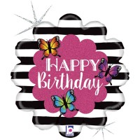 "Radiant Butterfly Birthday 18"" Foil Balloon"