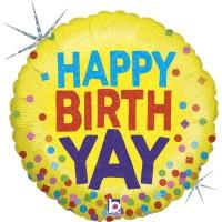 "Happy Birth-YAY! 18"" Foil Balloon"