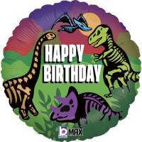 "Happy Birthday Jurassic 18"" Foil Balloon GRABO"