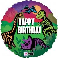 "Happy Birthday Dinosaur Theme 18"" Foil Balloon"