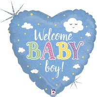 "Welcome Baby Boy 18"" Foil Balloon"