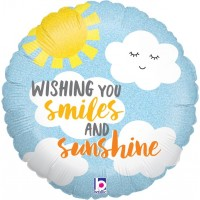 "Wishing You Smiles and Sunshine 18"" Foil Balloon"