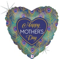 "Happy Mother's Day Peacock 18"" Foil Balloon"