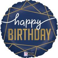 """Navy Birthday 18"""" Foil Balloon"""