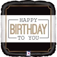 "Classic Birthday 18"" Foil Balloon"