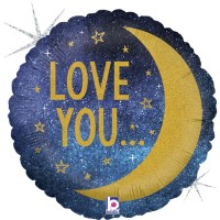 """I Love You to the Moon and Back 18"""" Foil Balloon"""