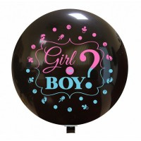 "Boy or Girl? Gender Reveal 36"" Latex Balloon 1ct"