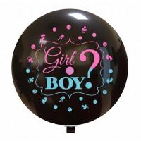 "Boy or Girl? Gender Reveal 36"" Latex Balloon 1ct"