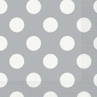 Silver. Dots Luncheon Napkins 16 CT.