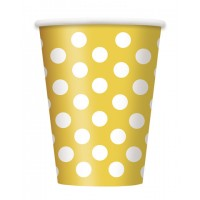 Sunflower Yellow. Dots 12oz 6 CT
