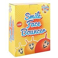 Ball Bouncer - Smile Face - 45cm 500g - 3 Astd Cols