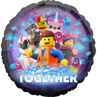 The Lego Movie Let's Build Together Foil Balloon
