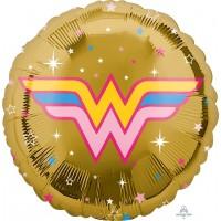 """Gold Wonder Woman 18"""" Foil Balloon"""