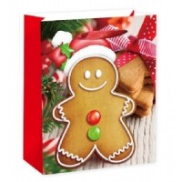X-Large Gingerbread Gift Bag 46X33X13cm