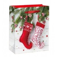 X-Large Christmas Stockings W/ Glitter Gift Bag 46X33X13cm