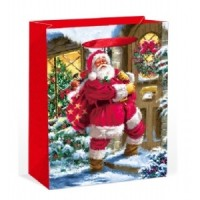 X-Large Traditional Santa Clause Gift Bag 46X33X13cm