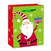 X-Large Santa W/ Glitter Gift Bag 46X33X13cm