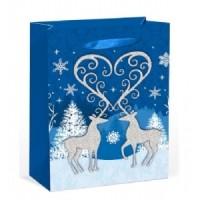 X-Large Reindeer W/ Glitter Gift Bag 46X33X13cm
