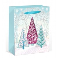 Large Trees W/ Glitter Gift Bag 32X26X11cm