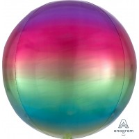 "Rainbow Orbz Balloon 15"" x 16"""