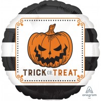 "Trick Or Treat Striped 18"" Foil Balloon"
