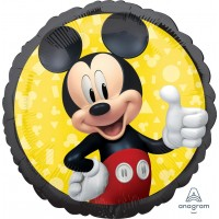 "Black and Yellow Disney Junior Mickey Mouse 18"" Foil Balloon"
