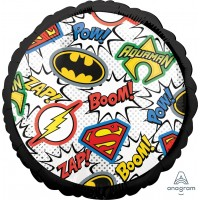 """Black Justice League 18"""" Foil Balloon"""