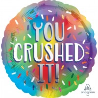 """You Crushed It! - Multicoloured 18"""" Foil Balloon"""