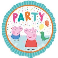 "Peppa Pig and George Party 18"" Foil Balloon"