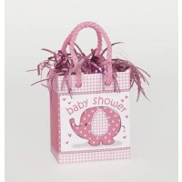 Mini Giftbag Balloon Weight - Umbrellaphants Pink 6ct - Baby Shower