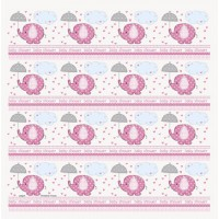 Umbrelephants Pink Gift Wrap
