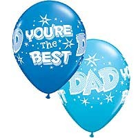 "Dad You're The Best 11"" Latex Qualatex 25ct"