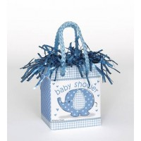 Mini Giftbag Balloon Weight - Umbrellaphants Blue 6ct - Baby Shower