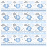Umbrelephants Blue Gift Wrap