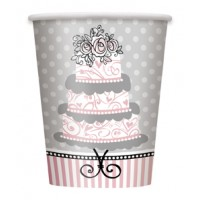 Elegant Wedding - 9 OZ. Cups