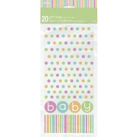 Cello Bags - Pastel - Baby Shower 20CT.